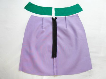 How to finish a waistline of a skirt - tutorial