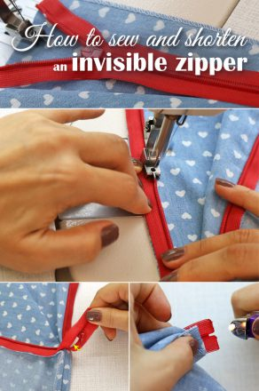 How to sew and shorten an invisible zipper - tutorial
