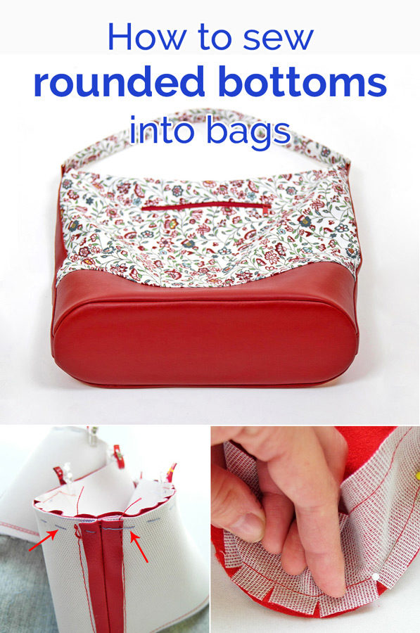 How to sew a rounded bottom into a bag