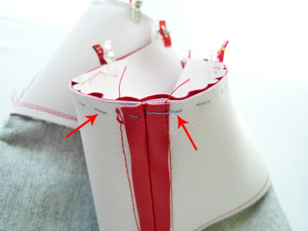 Sewing with faux leater - bottom of a bag