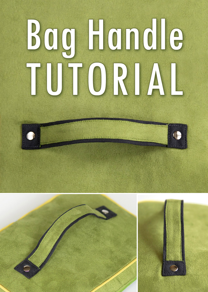 How to sew two colored bag handle or bag straps, step by step tutorial