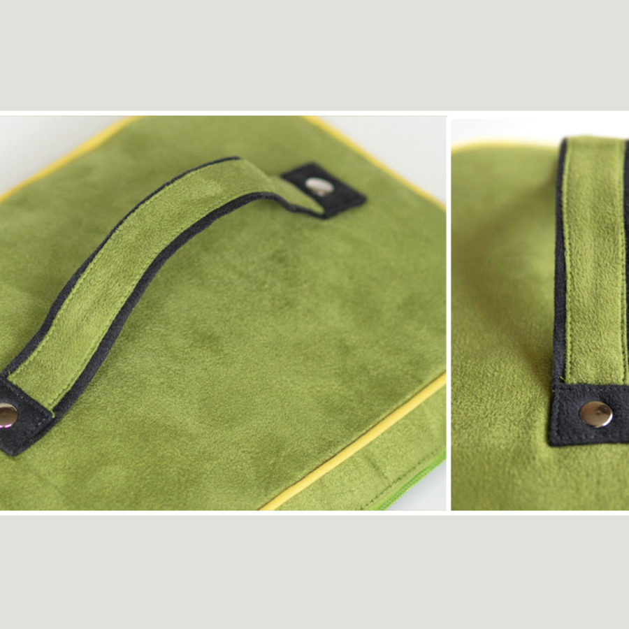 Learn how to sew double colored bag handle, bag straps