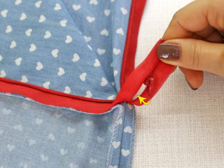 How to install an invisible zipper