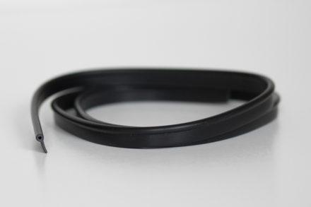Black plastic keder for bag making, pvc piping