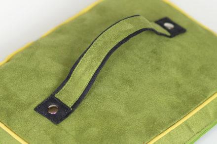 Double colored bag handle or handbag straps